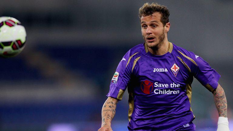 Alessandro Diamanti in action for Fiorentina in a Serie A match against Lazio in March