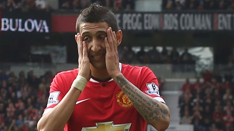 Angel Di Maria scored three Premier League goals in 27 appearances for Manchester United