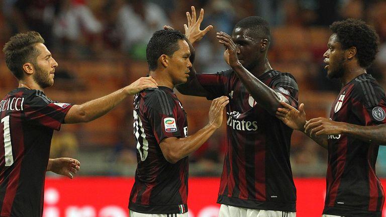Carlos Bacca celebrates his goal