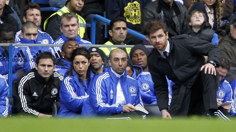 Villas-Boas managed Chelsea and Tottenham in the Premier League between 2011 and 2013