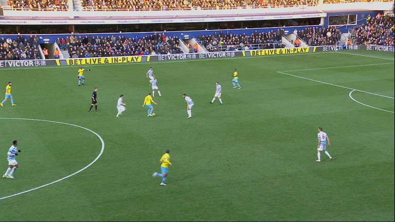 Crystal Palace's Yannick Bolasie is in an offside position as he receives a pass from team-mate James McArthur