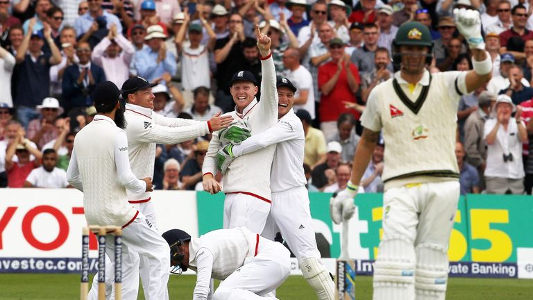 Ben Stokes (C) produces a crowd-pleasing performance for England