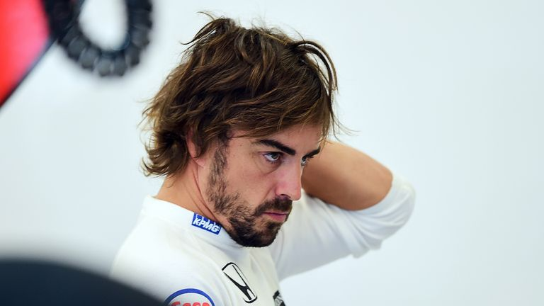 Fernando Alonso was outqualified by Button and will start last