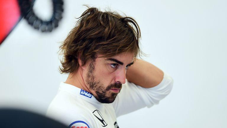 Fernando Alonso also struggled in Belgium