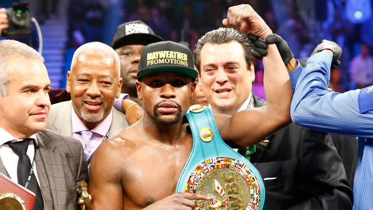 Floyd Mayweather has confirmed Andre Berto as his next opponent