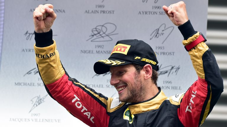 Grosjean has had to wait a long time for his 10th career podium