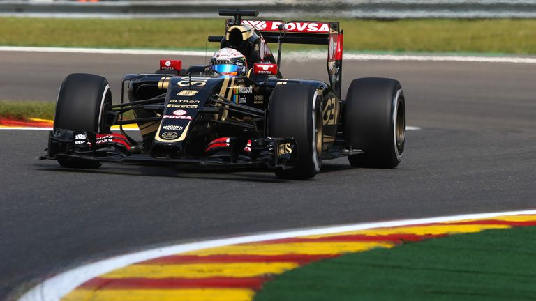 Lotus are enjoying a profitable weekend on the track in Belgium - but not off it