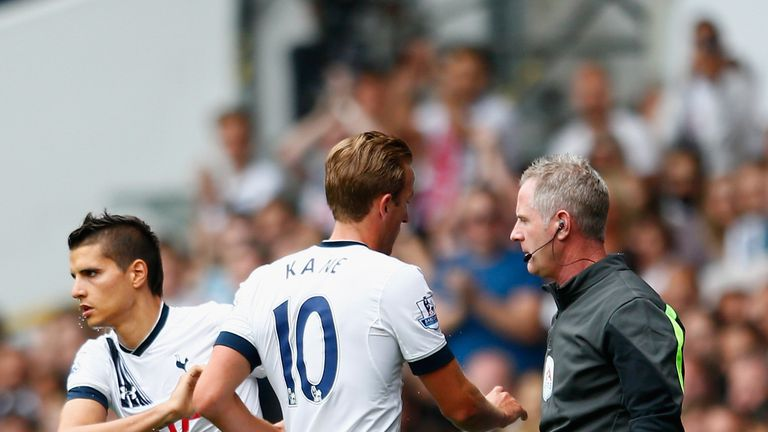 Harry Kane was withdrawn from the game on the hour-mark