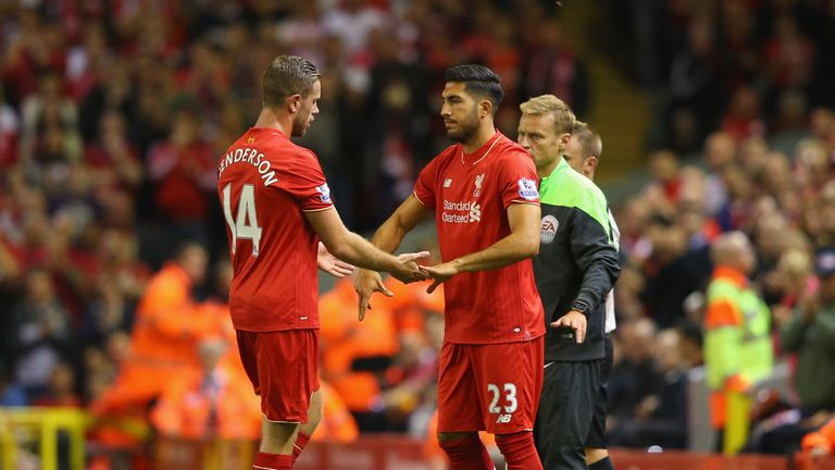 Henderson (left) suffered the injury against Bournemouth in August