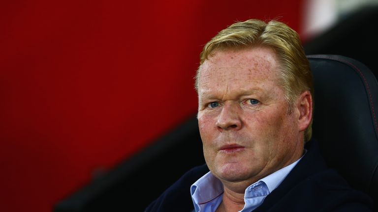 Ronald Koeman looks on during the UEFA Europa League Play Off Round 1st Leg match