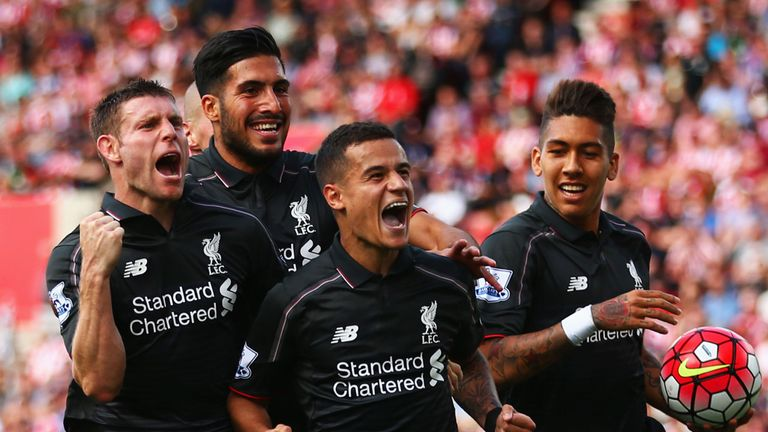 Coutinho: scored Liverpool's winning goal late on at Stoke