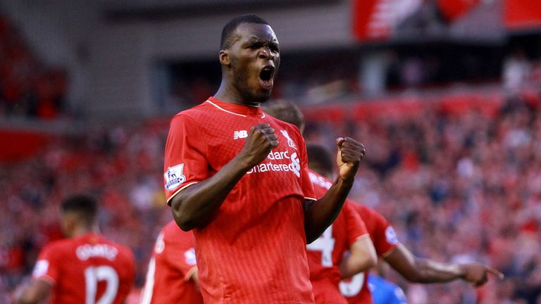 Liverpool's Christian Benteke celebrates scoring the only goal of the game against Bournemouth