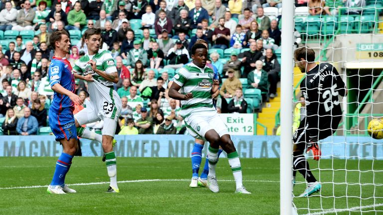 Mikael Lustig scores for Celtic against Inverness