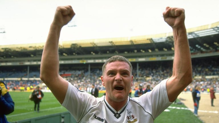 Paul Gascoigne won the 1991 FA Cup during his four years at Tottenham