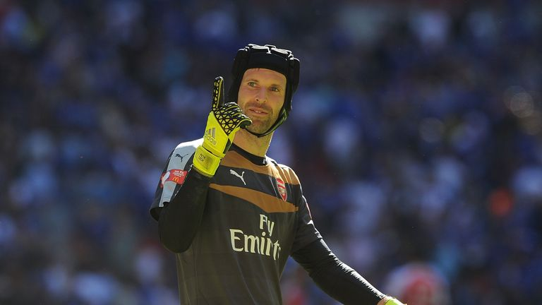 Arsenal goalkeeper Petr Cech emerged victorious against his old side