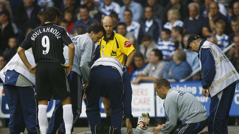 Cech was suffered a horrific head injury against Reading in 2006
