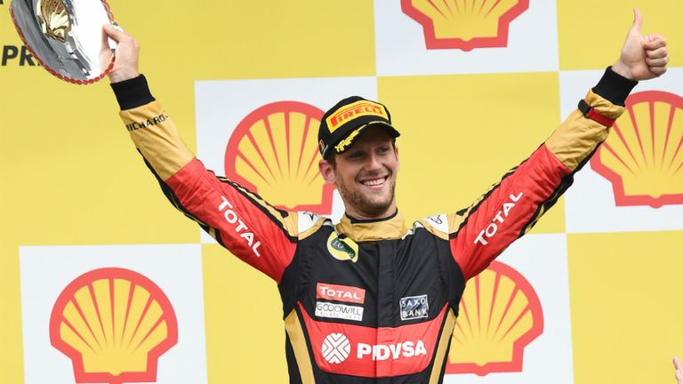 Romain Grosjean finished third in the Belgian GP at the weekend