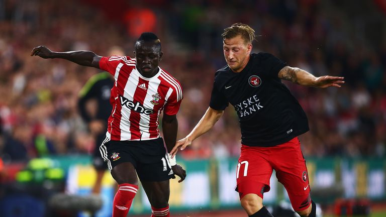 Manchester United target Sadio Mane started the game