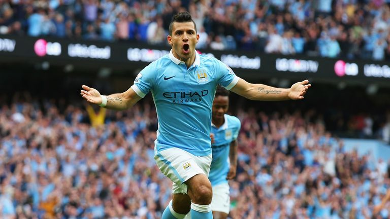 Sergio Aguero has led the line for Man City since his move from Atletico