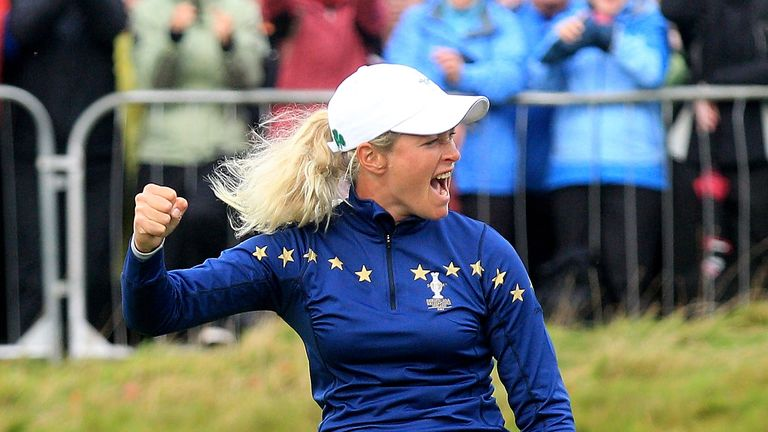 Suzann Pettersen was at the centre of the controversy around the 17th green