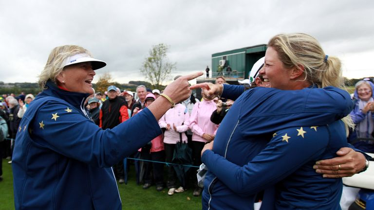 Laura Davies has been very critical of Suzann Petersen's actions in the Solheim Cup
