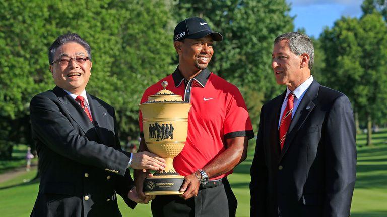 Tiger Woods: Celebrates his 79th PGA Tour title with a seven-shot win at the 2013 WGC-Bridgestone Invitational