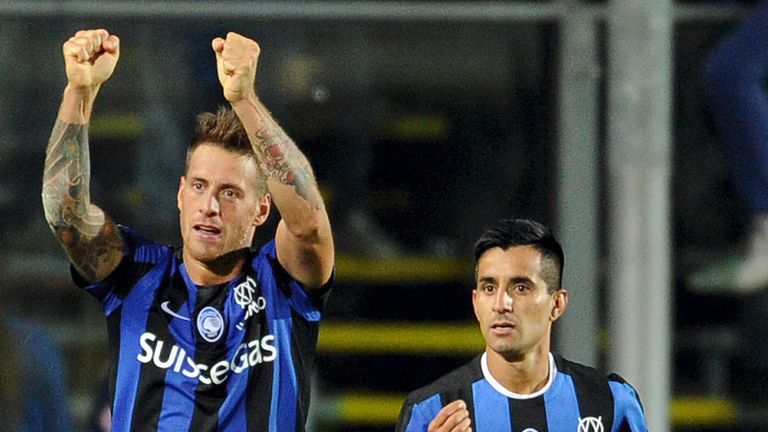 German Denis: Rounded off the scoring for Atalanta