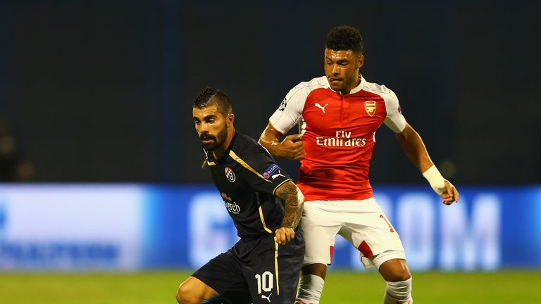 Paulo Machado is closed down by Alex Oxlade-Chamberlain