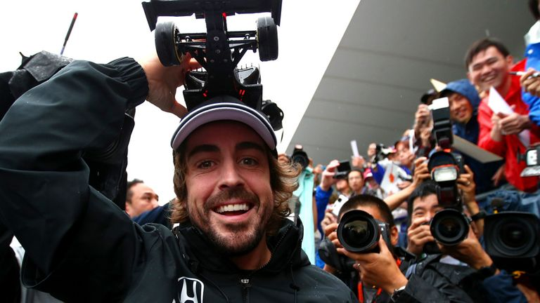 Fernando Alonso meets the Japanese fans on Thursday at Suzuka