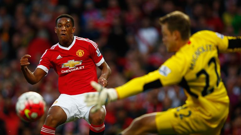Anthony Martial scored on his debut to cap Manchester United's win