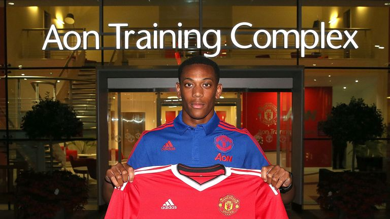 Anthony Martial completed his move to United on the final day of the transfer window