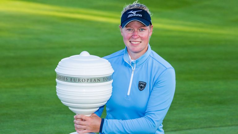 Nicole Broch Larsen with the Helsingborg Open trophy