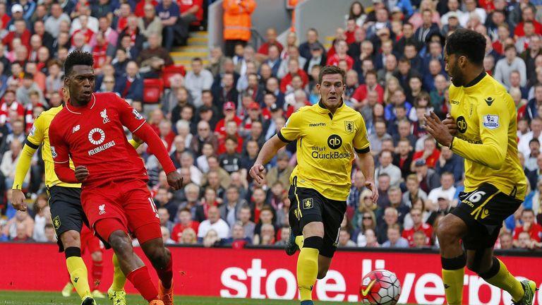 Daniel Sturridge scored his second of the day against Villa