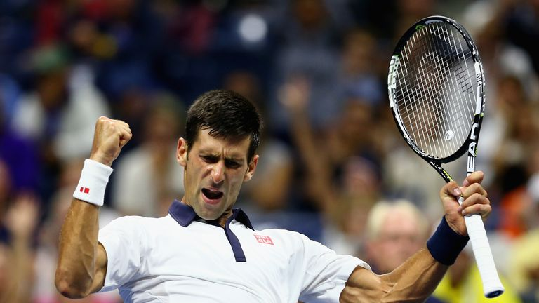 Novak Djokovic battled into the final eight at Flushing Meadows