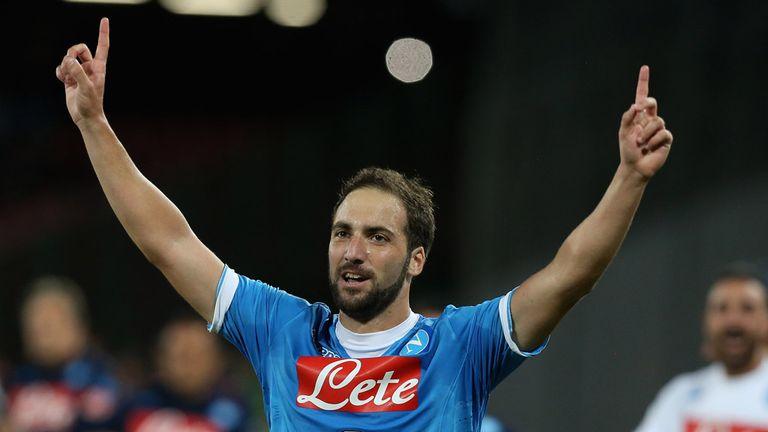 Gonzalo Higuain scored twice for Napoli