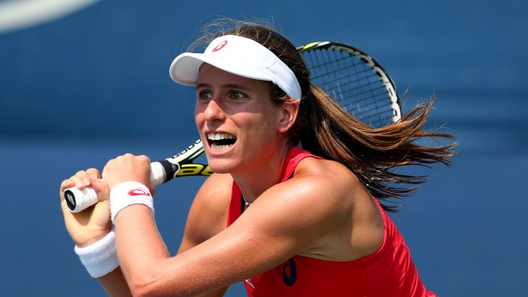 Konta could face top seed Simona Halep of Romania next
