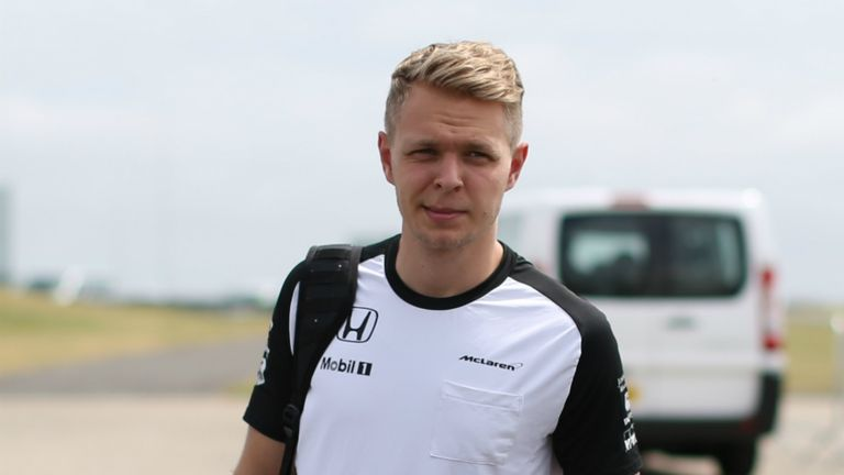 Kevin Magnussen has fractured his hand in a cycling accident
