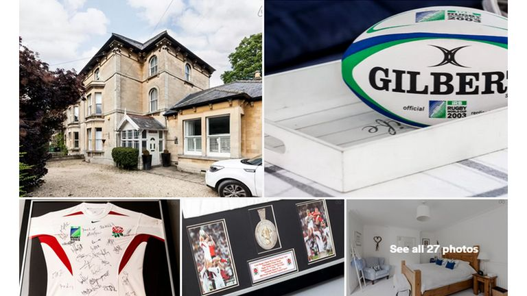Leiws Moody's house includes a display of his England memorabilia (pictures courtesy of airbnb.co.uk)