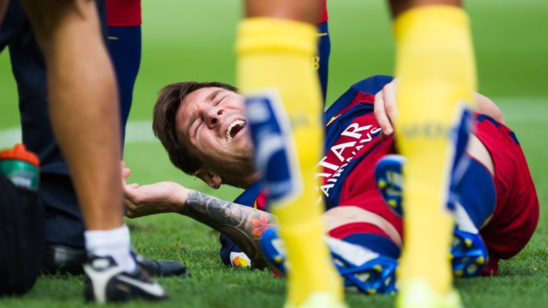 Lionel Messi was injured during Barcelona's game against Las Palmas in September