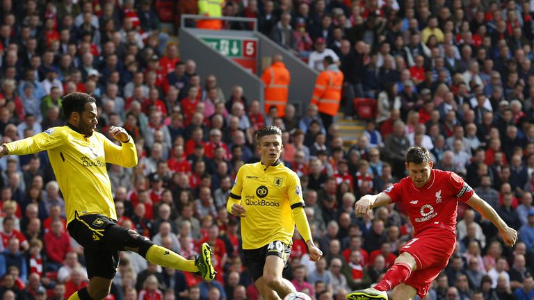 James Milner handed Liverpool the lead
