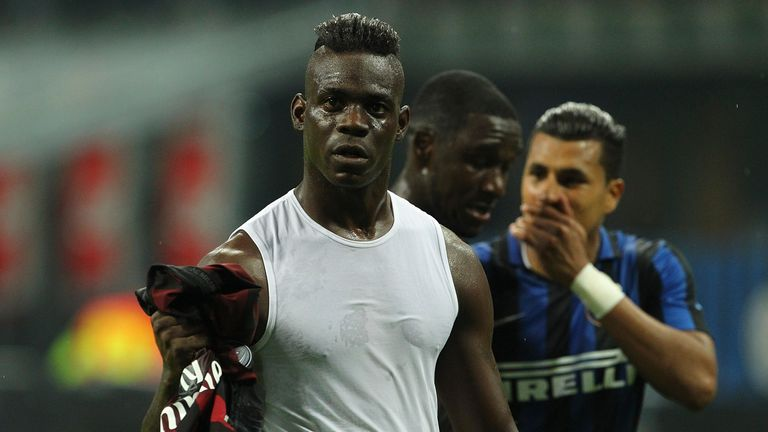 Balotelli came on in the 62nd minute at the San Siro