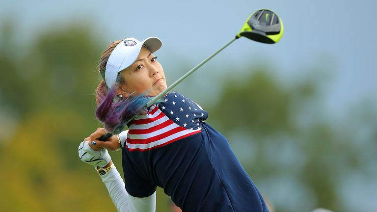 Michelle Wie was almost unstoppable in her singles against Caroline Hedwall