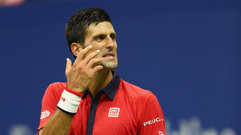 Djokovic reacted angrily after conceding the second set