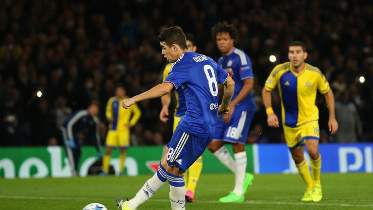 Oscar stroked home Chelsea's second from the penalty spot