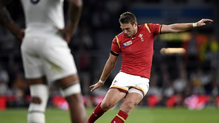 Dan Biggar kicked 23 of Wales 28 points in World Cup win over England