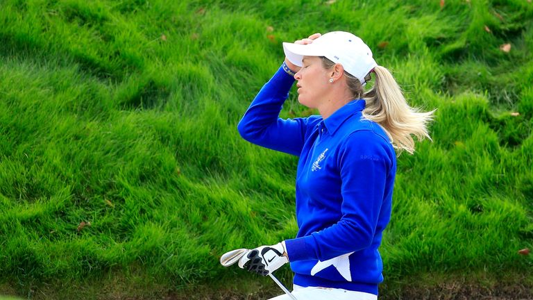 Suzann Pettersen caused controversy during the final day in Germany