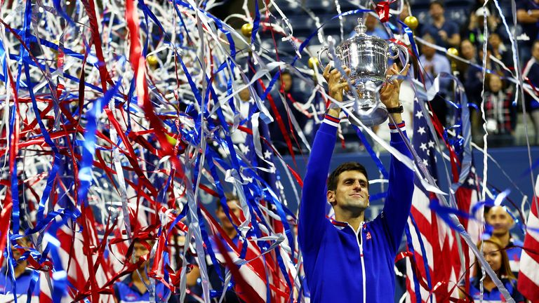 The world No 1 secured his third Grand Slam title this year