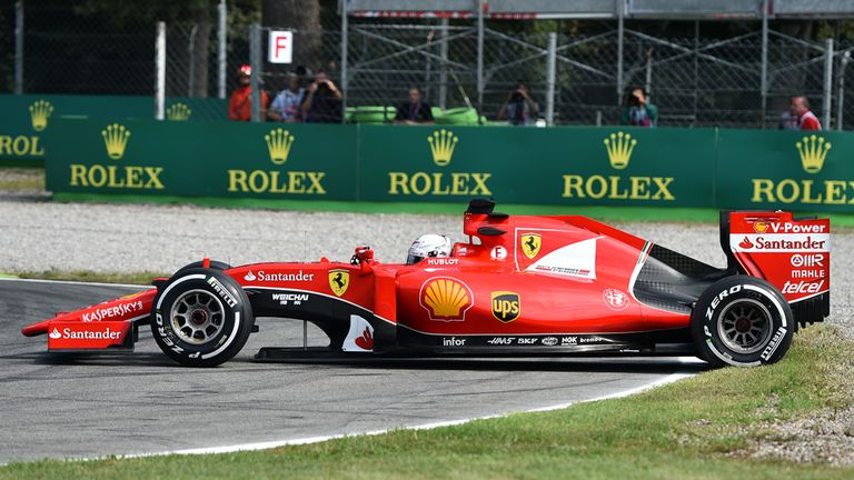 A spin for Sebastian Vettel in P1 - but the German was 'best of the rest' behind Mercedes on Friday