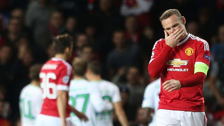 Rooney had an indifferent night in front of goal for United