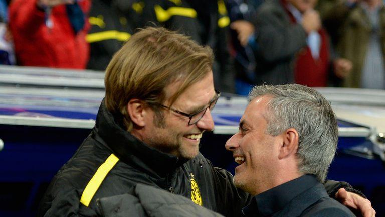Jurgen Klopp (left) says he is 'full of respect' for Jose Mourinho